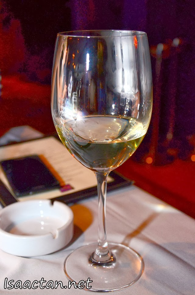 White wine to down all the good food.