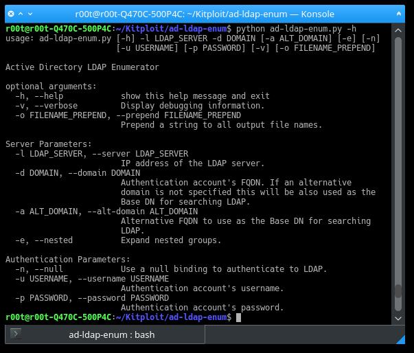 Ad-LDAP-Enum - Active Directory LDAP Enumerator