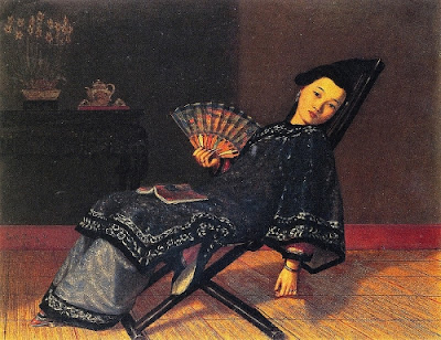 Enoch Wood Perry - Oriental Lady with Fan