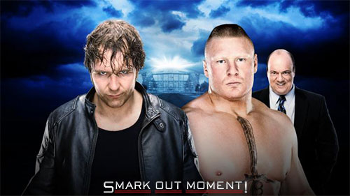 WWE WrestleMania 2016 Dean Ambrose vs Brock Lesnar