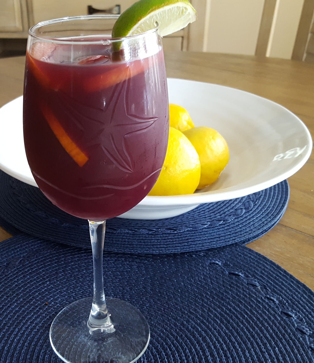 A Glass of My Favorite Red Wine Sangria