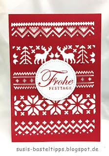 Weihnachtskarte mit Norwegermuster