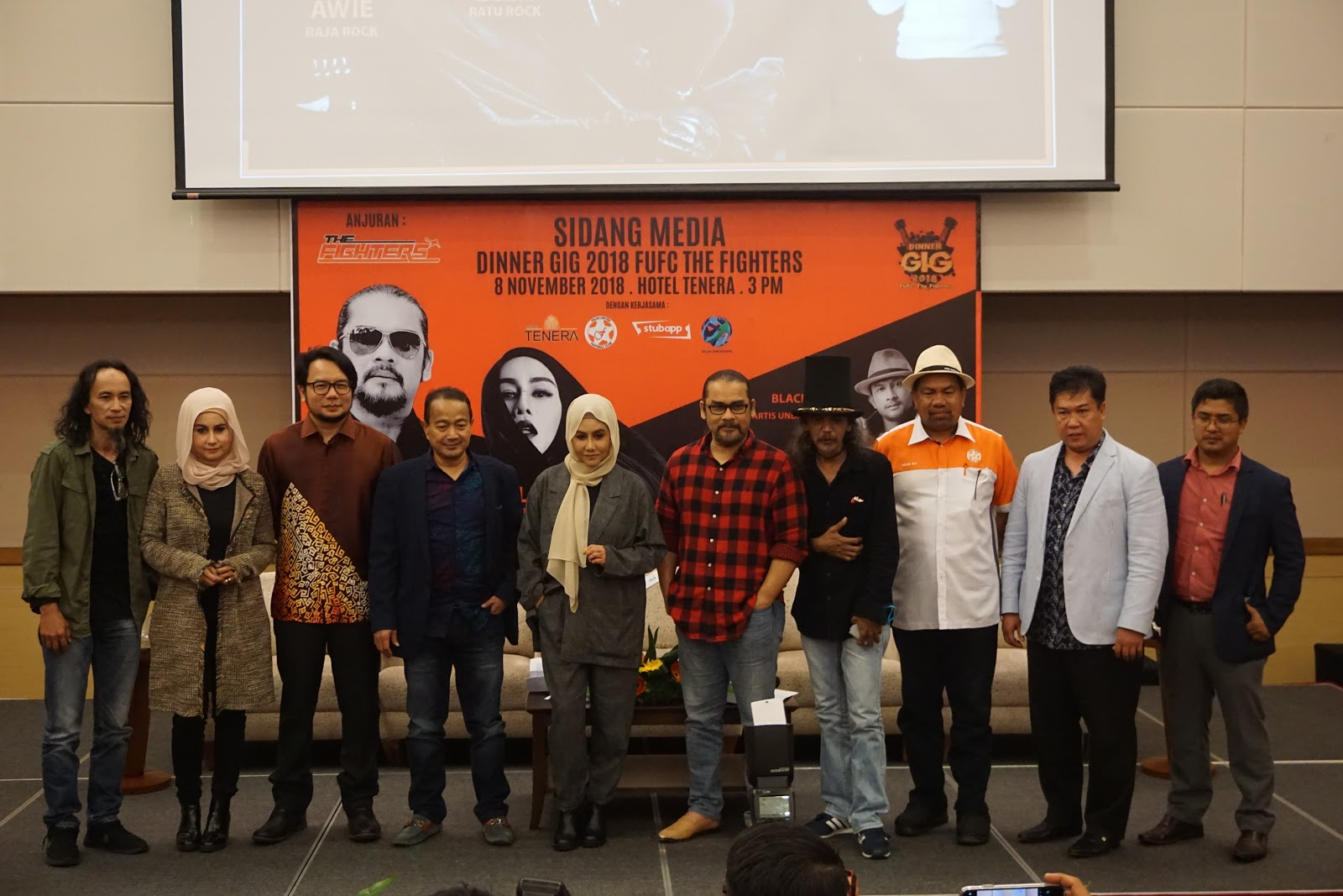 DATO' AWIE, DINNER GIG 2018 FUFC THE FIGHTERS, ELLA, MUZIK, PERSEMBAHAN MUZIK,