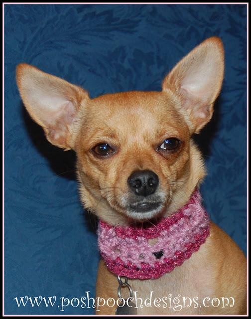 Posh Pooch Designs Dog Clothes Hugs And Kisses Dog Collar Crochet