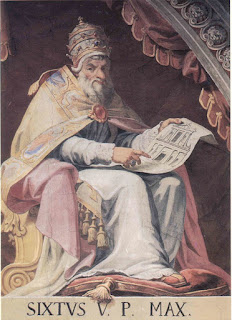 Pope Sixtus V introduced a programme of measures to tackle Rome's problems