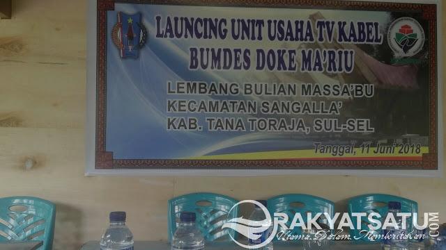 Launching TV Kabel, Camat Sangalla Inginkan Dana Bumdes Berdaya Guna