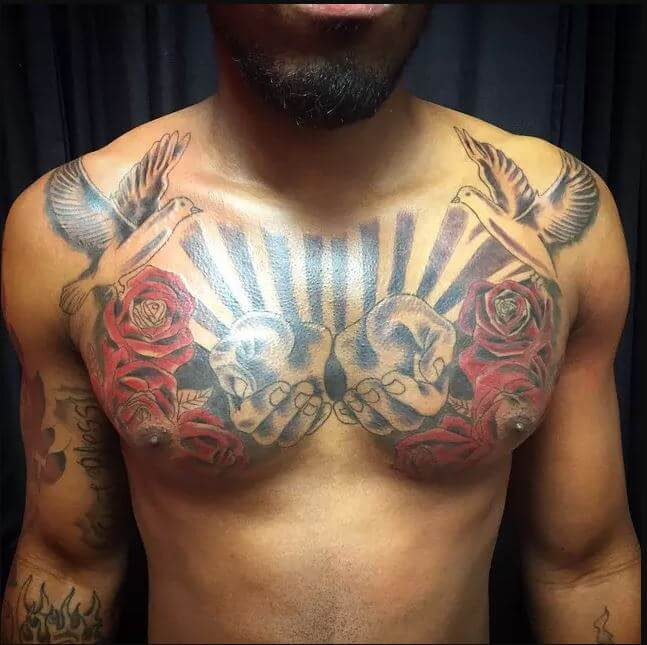 Chest Tattoos Clouds