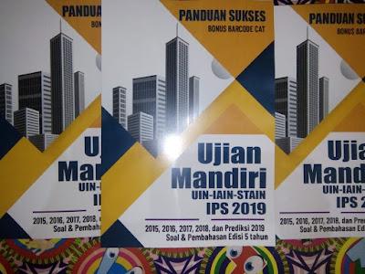 buku spmb MANDIRI UIN stain IAIN ujian mandiri IPS IPA IPC CAMPURAN 2019