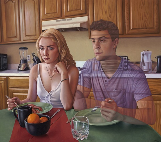 "por Alex Gross - ""The Meal"", 2016."