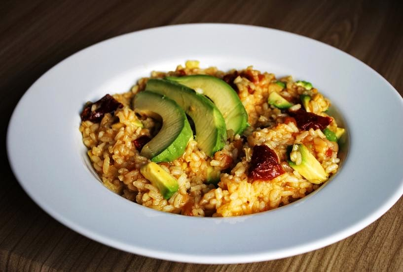 Avocado Tomaten Risotto