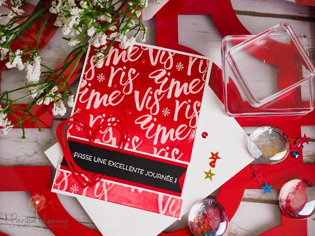 carte stamping up St-Valentin avec jeu Bonne couche d'amour
