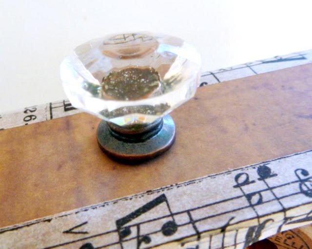 Tim Holtz Configurations Box Glass Curio Knob Closeup