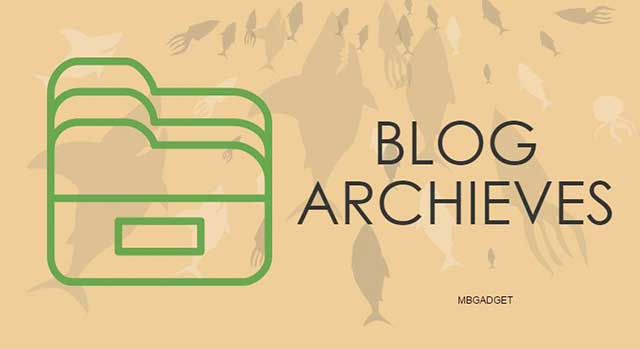 blog archives widget