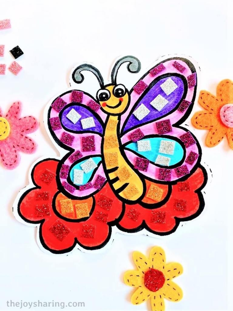 Free template butterfly art for kids