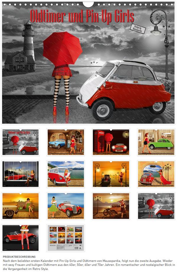 mausopardia pin up girls und oldtimer kalender und poster. Black Bedroom Furniture Sets. Home Design Ideas