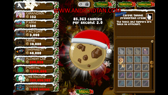 Free Download Cookie Clicker Mod Apk v1.41 Unlimited Money Android Terbaru Full Latest Version 2017 Gratis