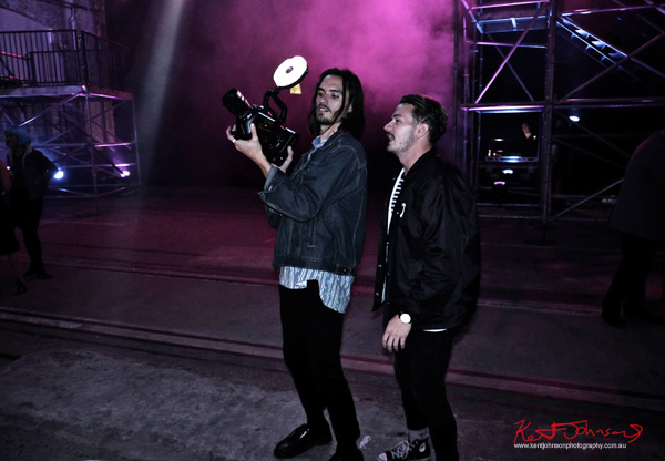 Video team - UE Boom 2 Launch at Carriageworks Sydney #PartyUp photographed by Kent Johnson for Street Fashion Sydney.