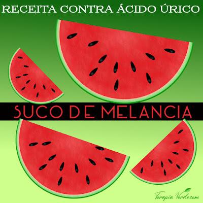Receita contra ácido úrico: suco de melancia