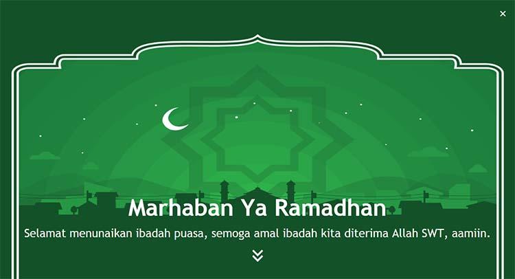Membuat Ucapan Marhaban Ya Ramadhan Dengan Parallax Efek