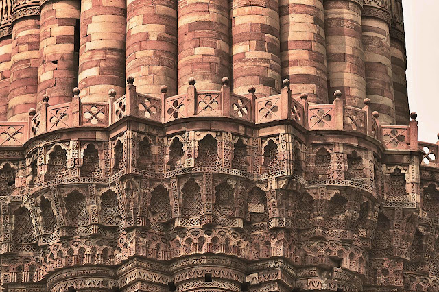 Detail of balcony of Qutb Minar