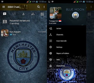 BBM Mod Manchester City V3.2.5.12 Apk