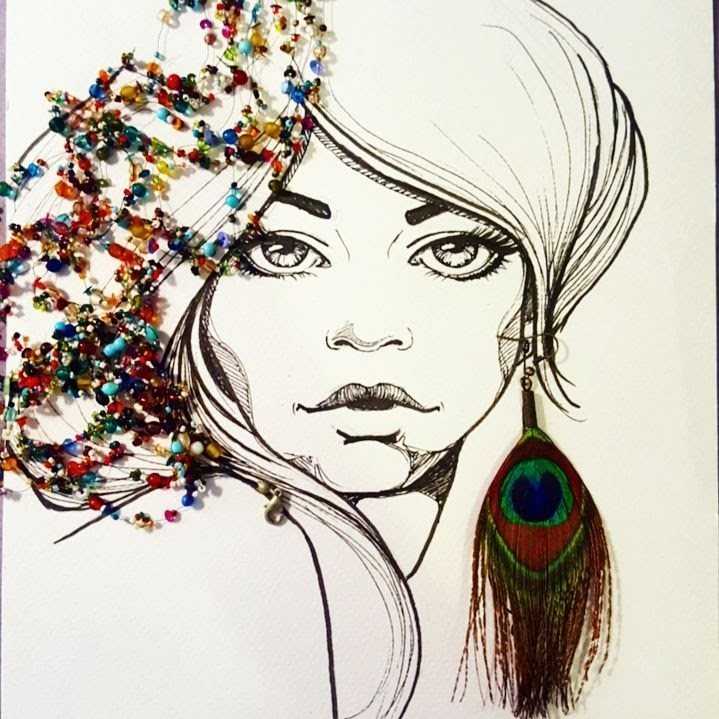 09-Bejewelled-Steph-Diaz-Zahalka-A-Compilation-of-Different-Portrait-Style-Drawings-www-designstack-co