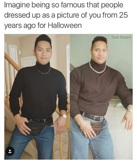 The Rock fan halloween disguise