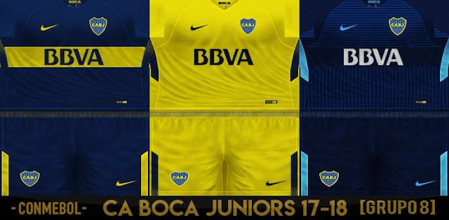 outlet store b09dd 1c37f ultigamerz: PES 6 Boca Juniors Kits-Pack 2018/19 Fix