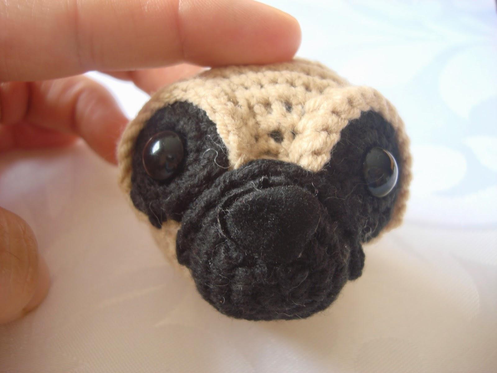 Mini Amigurumi Pug Free Crochet Pattern in 2020 | Crochet animal ... | 1200x1600