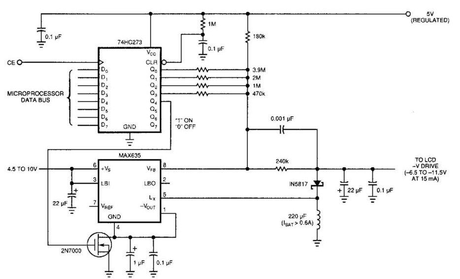Build a Lcd Display Power Supply Circuit Diagram