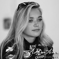 """Thank you to my Crew Chief and crew for all your hard work!"" - Natalie Decker"