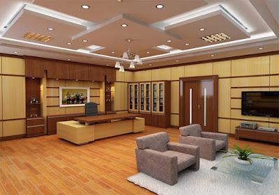 Thiết kế phòng giám đốc gần gũi, ấm cúng và sang trọng với gam màu vàng nhạt