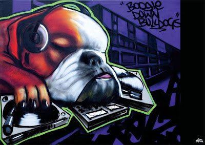 dog rap graffiti art