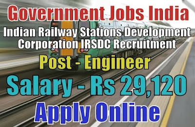 IRSDC Recruitment 2017 Apply Online