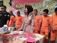 Jajaran Polda DIY Tangkap  51 Tersangka  Narkoba,