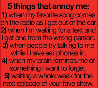 5 Things That Annoy Me - ygoel.com