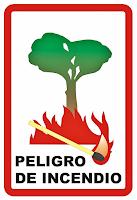 Mapa de riesgo de Incendios Forestales