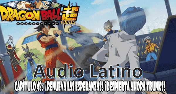 Ver capitulo 48 en audio latino online, Trunks del futuro logra sobrevivir al ataque de Black, tomando la fuente de la máquina del tiempo y logra viajar al presente.