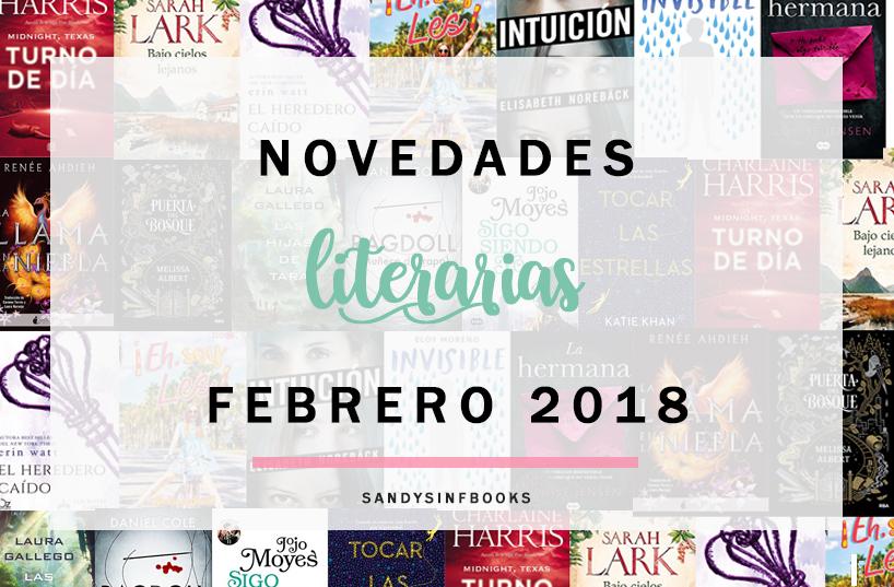 novedades literarias febrero 2018