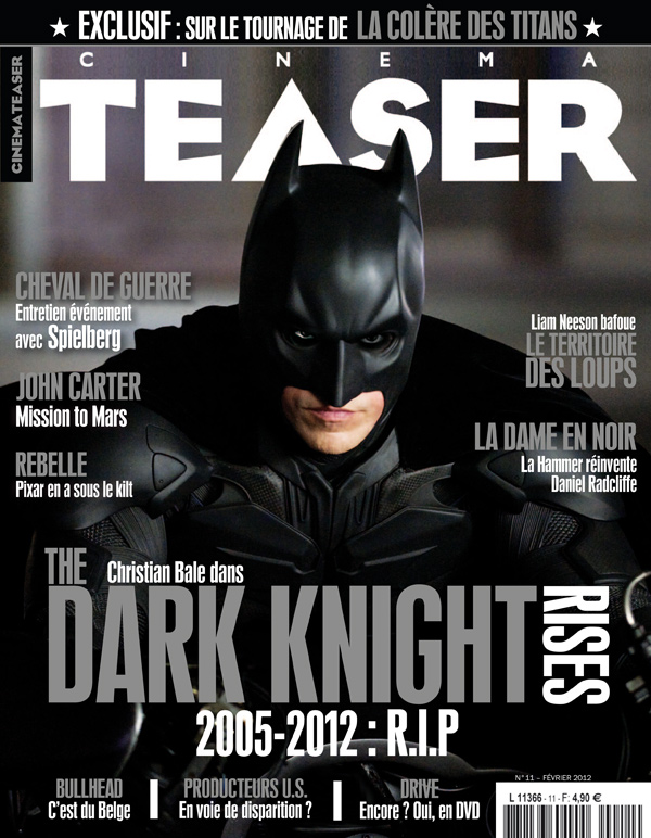 The Dark Knight Rises On The Cover Of Cinema Teaser