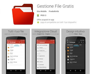 Gestione File Gratis File manager per spostare foto, video e file su Android