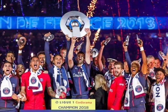 PSG Ligue1 2017/18 champions