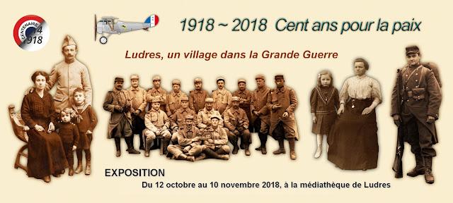 """LUDRES (54) - Exposition """"Ludres, un village dans la Grande Guerre """"(12 oct-10 nov. 2018)"""