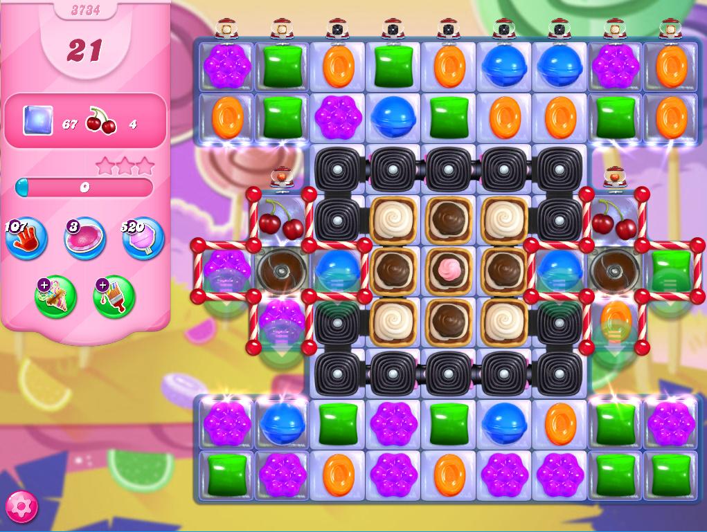 Candy Crush Saga level 3734