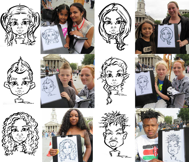 Live Caricatures Trafalgar Square, London
