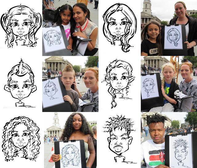 Live Caricatures Trafalgar Square, London