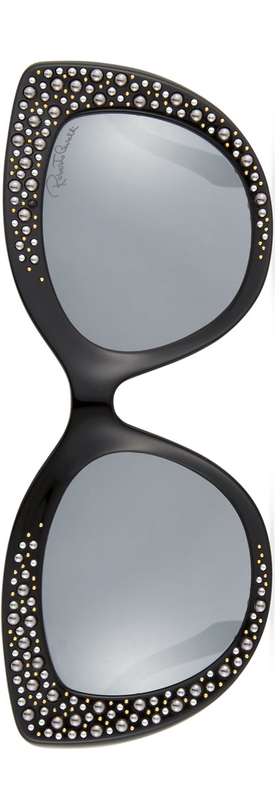 Roberto Cavalli Studded Gradient Cat-Eye Sunglasses, Black