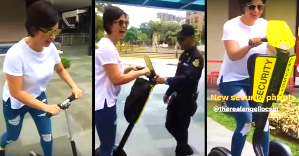 Angel Locsin Was Playing Around But When She Saw This Security Guard, What She Did Next Was Something You Did Not Expect!