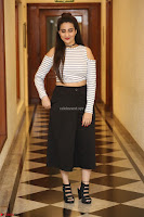 Manjusha in sleevelss crop top and black skirt at Darshakudu pre release ~  Exclusive Celebrities Galleries 087.JPG