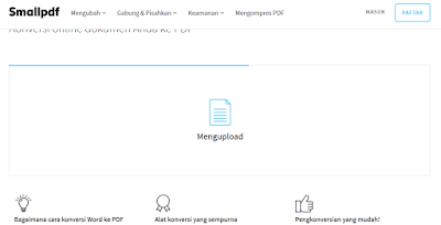 upload ke smallpdf